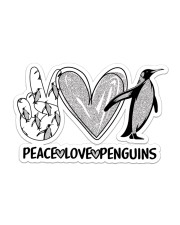 Peace Love Penguins  Sticker - Single (Horizontal) front