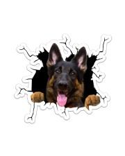 German Shepherd Crack Sticker tile
