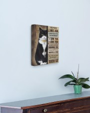 Cat will be waiting at the door - Beige color 11x14 Gallery Wrapped Canvas Prints aos-canvas-pgw-11x14-lifestyle-front-01
