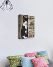 Cat will be waiting at the door - Beige color 11x14 Gallery Wrapped Canvas Prints aos-canvas-pgw-11x14-lifestyle-front-02