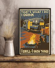 I Grill And I Know Things 11x17 Poster lifestyle-poster-3
