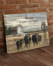 Cow farm 20x16 Gallery Wrapped Canvas Prints aos-canvas-pgw-20x16-lifestyle-front-09