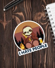 Sloth I Hate People Sticker - Single (Vertical) aos-sticker-single-vertical-lifestyle-front-05