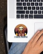 Sloth I Hate People Sticker - Single (Vertical) aos-sticker-single-vertical-lifestyle-front-11