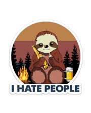Sloth I Hate People Sticker - Single (Vertical) front