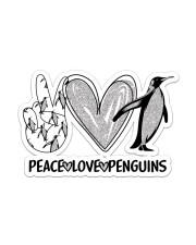 Peace Love Penguins  Sticker - Single (Vertical) front