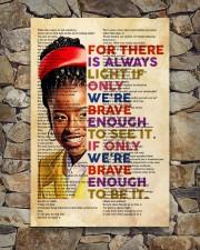 Brave enough 24x36 Poster aos-poster-portrait-24x36-lifestyle-16