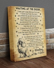 I'll be waiting at the Door Poodle 11x14 Gallery Wrapped Canvas Prints aos-canvas-pgw-11x14-lifestyle-front-10