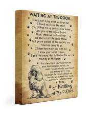 I'll be waiting at the Door Poodle 11x14 Gallery Wrapped Canvas Prints front