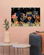 My black queen 24x16 Poster poster-landscape-24x16-lifestyle-22