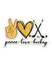 Peace Love Hockey Sticker - Single (Horizontal) front