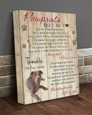 Trouble Pawprints Left By You 11x14 Gallery Wrapped Canvas Prints aos-canvas-pgw-11x14-lifestyle-front-10