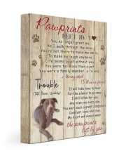 Trouble Pawprints Left By You 11x14 Gallery Wrapped Canvas Prints front