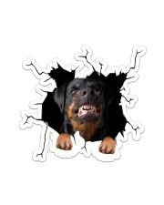 Rottweiler Crack Sticker - Single (Vertical) front