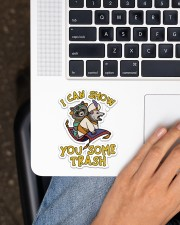 Racoon show you some trash Sticker - Single (Vertical) aos-sticker-single-vertical-lifestyle-front-11