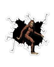 Bigfoot Crack Sticker - Single (Vertical) front