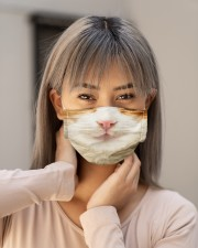 Domestic Shorthair Cloth face mask aos-face-mask-lifestyle-18