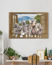 Chinese crested 30x20 Gallery Wrapped Canvas Prints aos-canvas-pgw-30x20-lifestyle-front-03