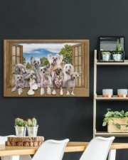 Chinese crested 30x20 Gallery Wrapped Canvas Prints aos-canvas-pgw-30x20-lifestyle-front-04