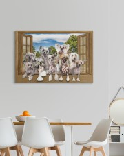 Chinese crested 30x20 Gallery Wrapped Canvas Prints aos-canvas-pgw-30x20-lifestyle-front-05