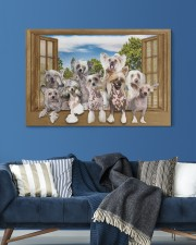 Chinese crested 30x20 Gallery Wrapped Canvas Prints aos-canvas-pgw-30x20-lifestyle-front-06