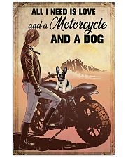 Love Motorcycle And A Dog 11x17 Poster front