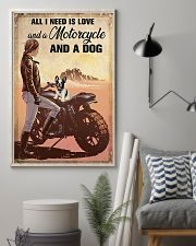 Love Motorcycle And A Dog 11x17 Poster lifestyle-poster-1