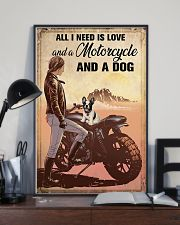 Love Motorcycle And A Dog 11x17 Poster lifestyle-poster-2
