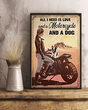 Love Motorcycle And A Dog 11x17 Poster lifestyle-poster-3