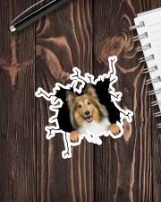 Shetland Sheepdogs Crack Sticker - Single (Vertical) aos-sticker-single-vertical-lifestyle-front-05