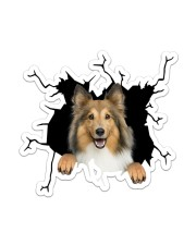 Shetland Sheepdogs Crack Sticker - Single (Vertical) front