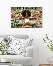 July woman 24x16 Poster poster-landscape-24x16-lifestyle-01
