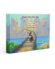Don't Cry For Me - Puppy 14x11 Gallery Wrapped Canvas Prints front