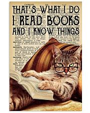I Read Books And I Know Things 11x17 Poster front