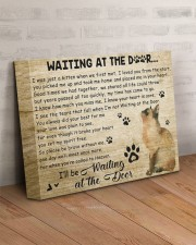 Cat will be waiting At The Door 14x11 Gallery Wrapped Canvas Prints aos-canvas-pgw-14x11-lifestyle-front-07