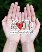 Peace love baseball Sticker - Single (Horizontal) aos-sticker-single-horizontal-lifestyle-front-20