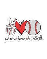 Peace love baseball Sticker - Single (Horizontal) front