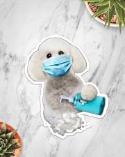 Bichon Frise wash hands Sticker - Single (Vertical) aos-sticker-single-vertical-lifestyle-front-06