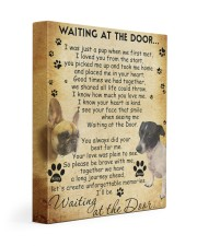 Minnie And Riley Waiting At The Door 11x14 Gallery Wrapped Canvas Prints front