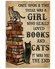 A Girl Who Loved Books And Cats 11x17 Poster front