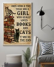 A Girl Who Loved Books And Cats 11x17 Poster lifestyle-poster-1