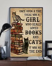 A Girl Who Loved Books And Cats 11x17 Poster lifestyle-poster-2