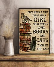 A Girl Who Loved Books And Cats 11x17 Poster lifestyle-poster-3