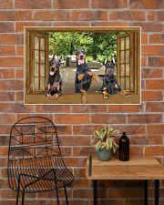 Doberman 36x24 Poster poster-landscape-36x24-lifestyle-20