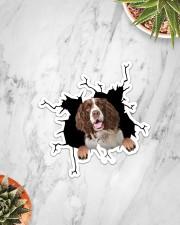 English Springer Spaniel Crack Sticker - Single (Vertical) aos-sticker-single-vertical-lifestyle-front-06