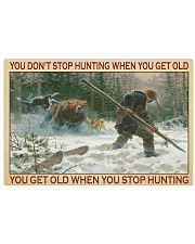 Deer Hunting 17x11 Poster front