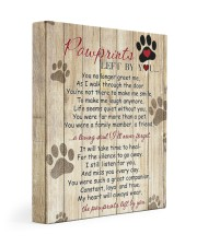 Pawprints Left By You 11x14 Gallery Wrapped Canvas Prints front
