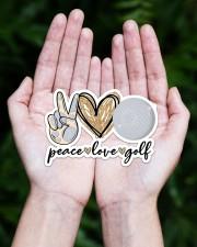peace love golf Sticker - Single (Horizontal) aos-sticker-single-horizontal-lifestyle-front-20
