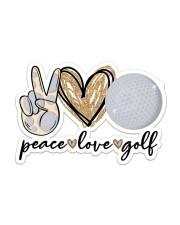peace love golf Sticker - Single (Horizontal) front