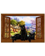 Black cat 36x24 Poster front